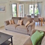 Open plan living area at Villa Acacia